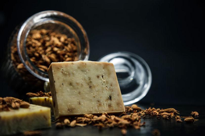 A homemade bar of soap