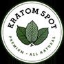 A small, circular Kratom Spot logo.